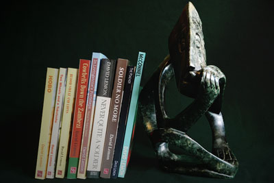 Statue and Books by David Lemon