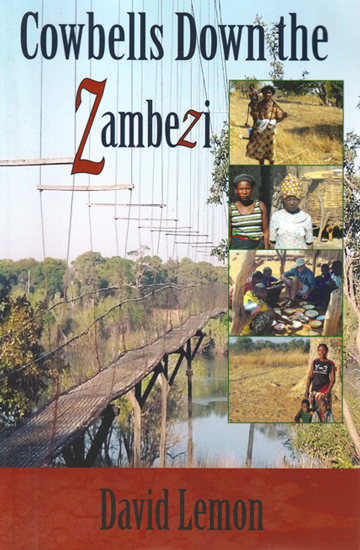 book cover for 'Cowbells Down the Zambezi' by David Lemon