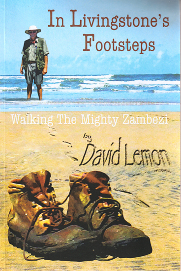 book cover for 'In Livingstone's Footsteps' by David Lemon