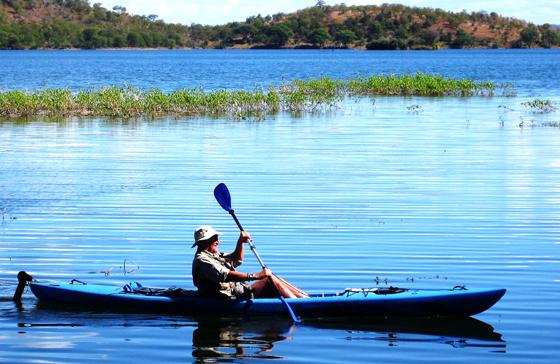 David Lemon Kayaking on Lake Kariba