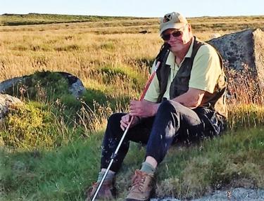David Lemon on Dartmoor, Devon