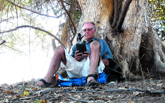 David Lemon under a tree near Livingstone