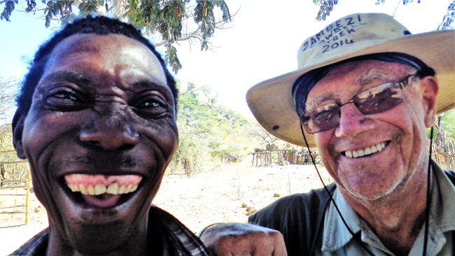David Lemon with a local villager in Zambia