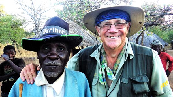 village elder in Mozambique with David Lemon